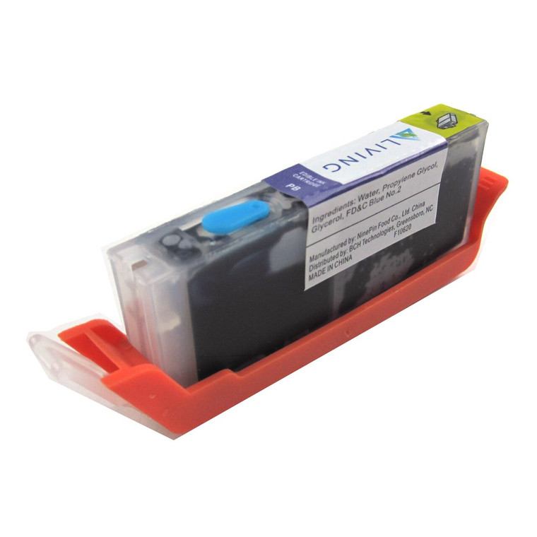 New Refillable Edible Ink Cartridge for Canon CLI-281 Photo Blue PB with F10620 Ink