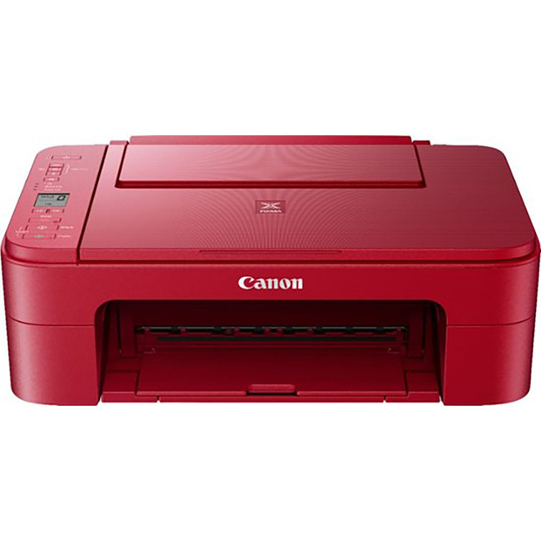 New Edible Canon Pixma TS3320 RED Wireless All-in-One Printer Bundle with Free Sugar Paper