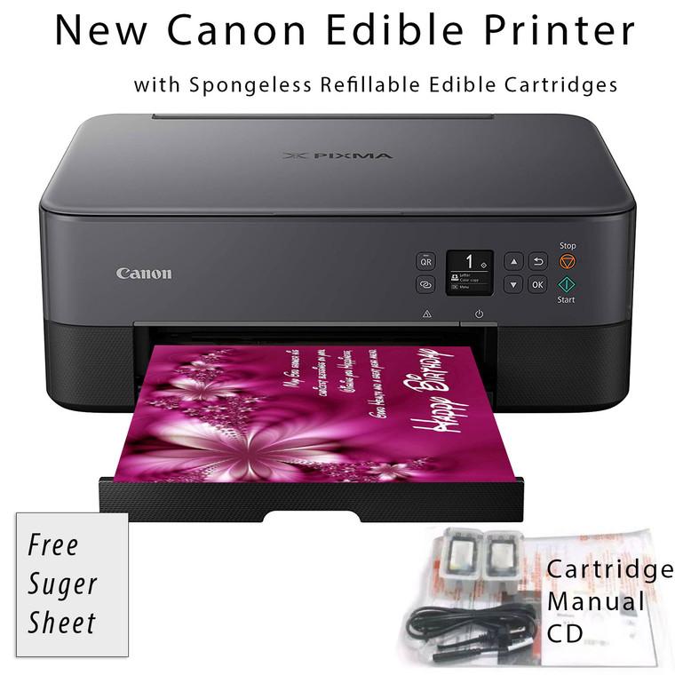 New Edible Canon Pixma TS3320 BLACK Wireless All-in-One Printer Bundle with Free Sugar Paper
