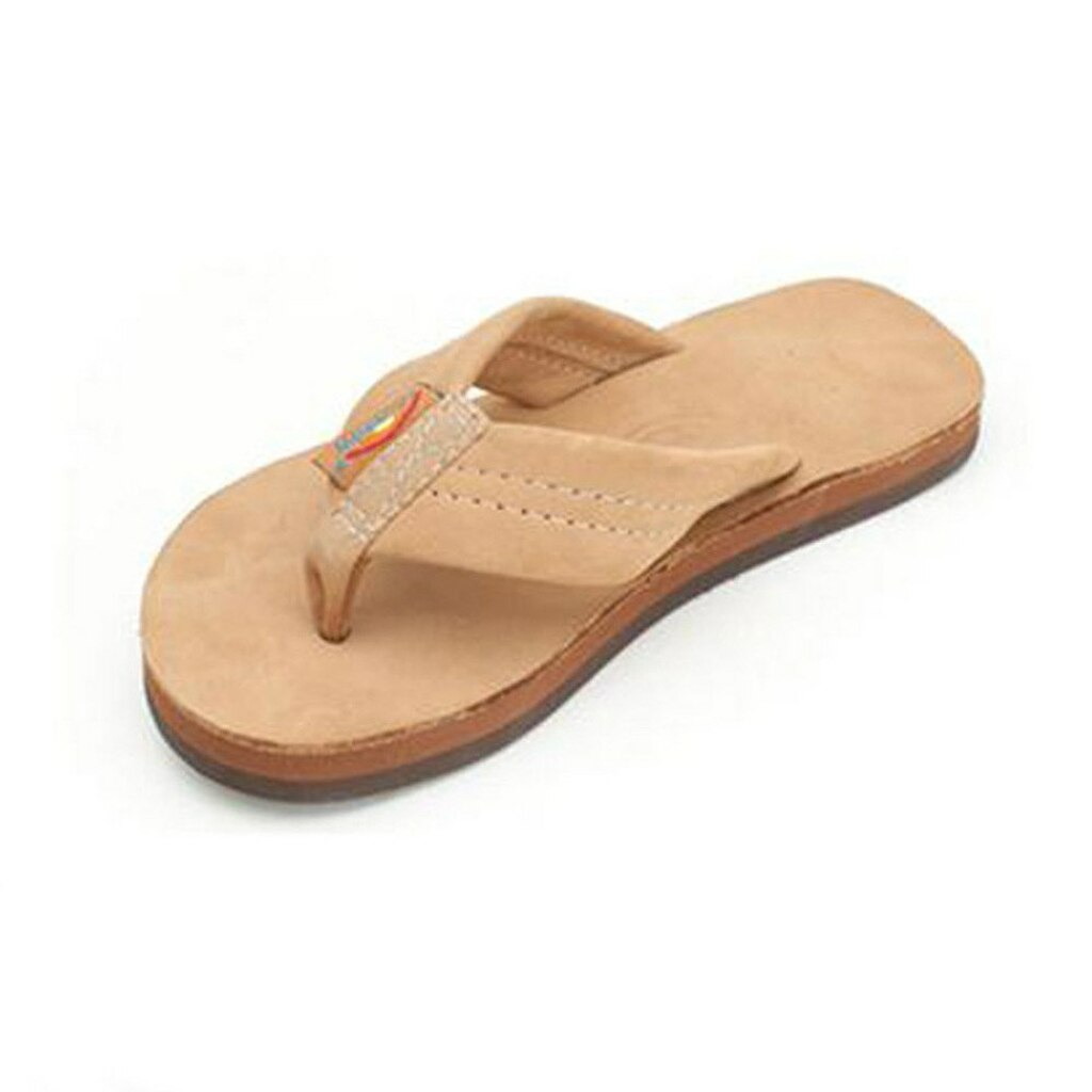 Kids' Sierra Brown Premier Leather Single Layer Sandals