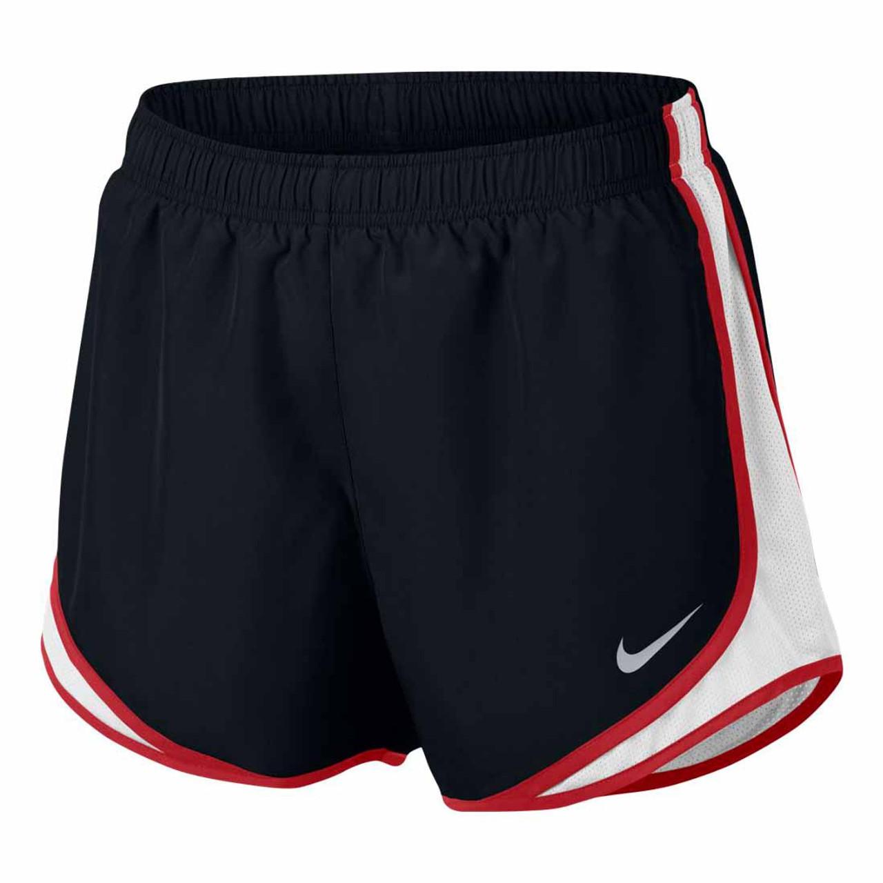 472b3d513 Women's Black/White/Sport Red Nike Tempo Running Shorts - TYLER'S