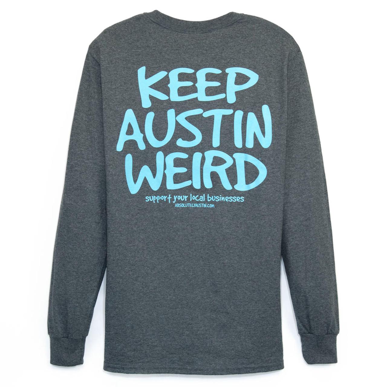 d05539050de1 Keep Austin Weird Dark Heather/Light Blue Long Sleeve Tee - TYLER'S