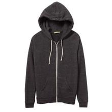 Women's Black Adrian Eco-Fleece Zip Hoodie