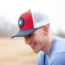 Navy/Red Texas Star Patch Trucker Hat
