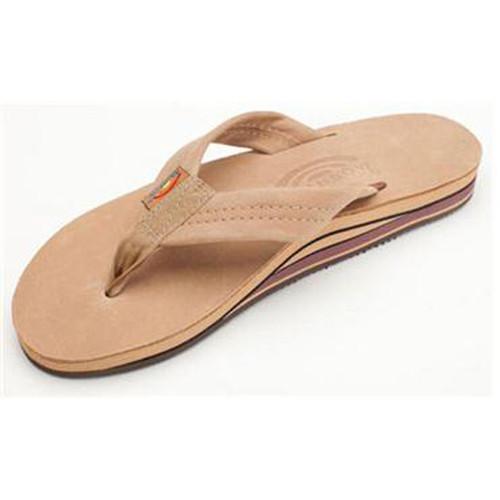 dd350e52a Men's Sierra Brown Double Layer Leather Sandals