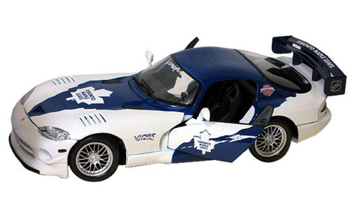 Toronto Maple Leafs Dodge Viper GT2 1:18 Scale Top Dog NHL Die Cast Model Auto