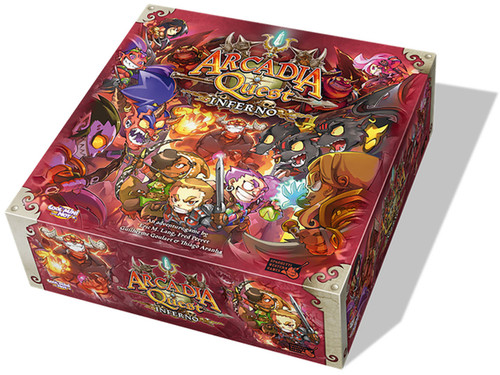 Arcadia Quest: Inferno board game expansion