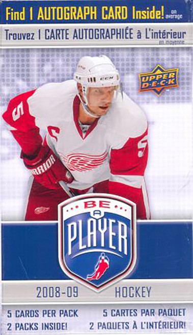 2008-09 Upper Deck Be A Player Signature hockey cards Blaster Box