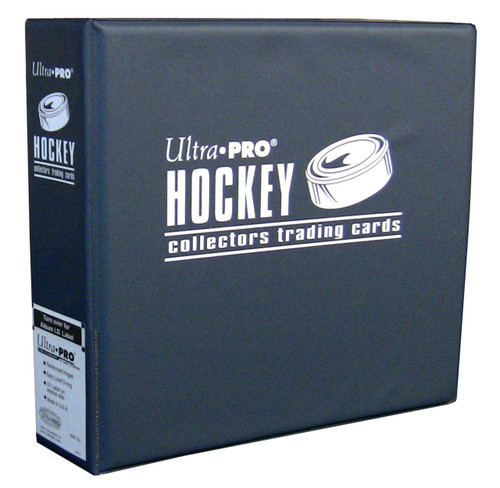 """3"""" Ultra Pro Hockey Navy 3-Ring Binder + 50 Pages of Top Loading 9-pocket"""