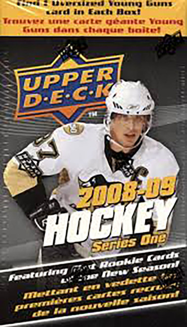2008-09 Upper Deck Series 1 hockey cards Blaster Box with Oversize Card