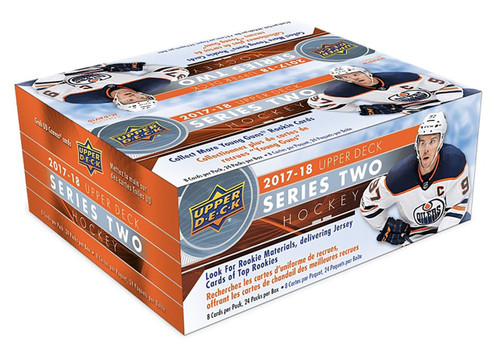 2017-18 Upper Deck Series 2 hockey cards Sealed Retail Box with 24 Packs