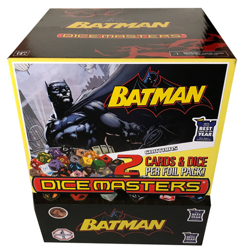 DC Dice Masters Batman Gravity Feed Display with 90 Packs of cards and dice