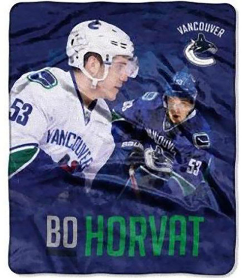 "Bo Horvat Vancouver Canucks 50"" x 60"" Silk Touch Plush Throw Blanket"