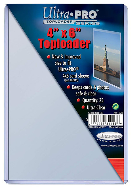 """25 Count Ultra Pro 4"""" x 6"""" Toploaders photos and collectibles storage protection"""