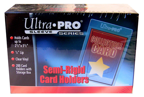 """200 Ultra Pro Semi-Rigid Sleeves with 1/2"""" Lip sports cards storage protection"""