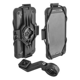 HBAR MOUNT BIKASE ELASTOKASE CELL PHONE HOLDER UNIVERSAL BK