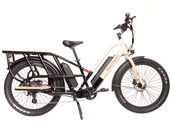 Vista Cruiser Electric Bicycle - Black & Cream