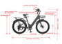 FT750ST Step Through Electric Bicycle - Hornet Yellow
