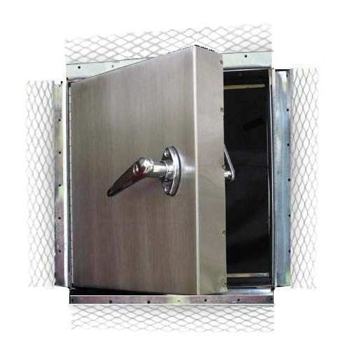 XPS-PWE - STAINLESS STEEL WEATHER-RESISTANT EXTERIOR ACCESS PANEL FOR PLASTER AND STUCCO