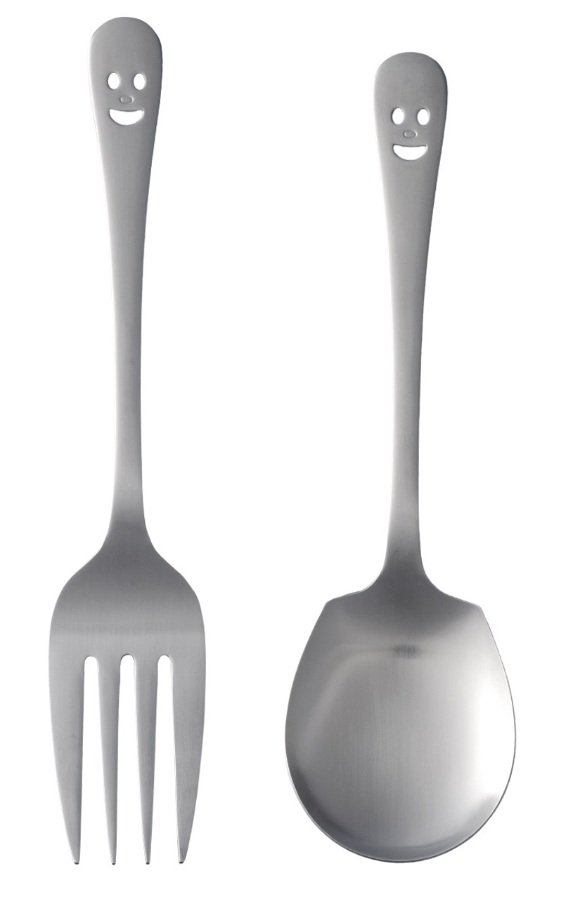 Happy Face Stainless Steel Serving Utensils