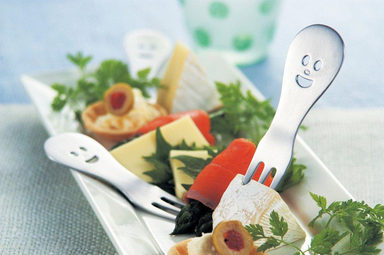 Happy Face Petit Party Fork (95 mm)