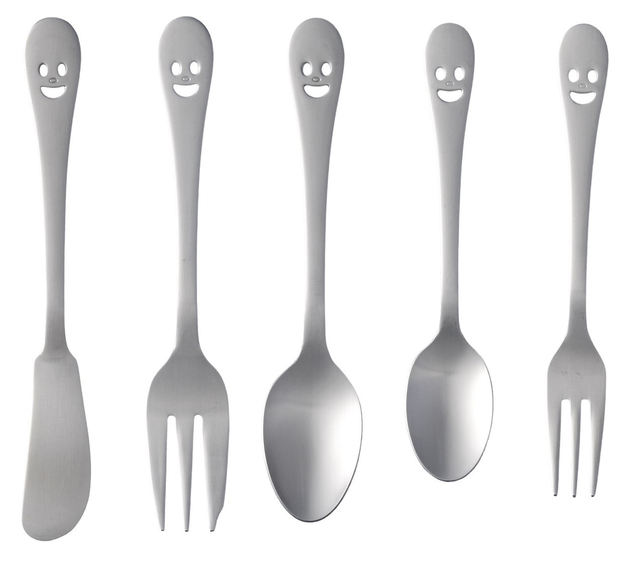 Happy Face Small Size Cutlery