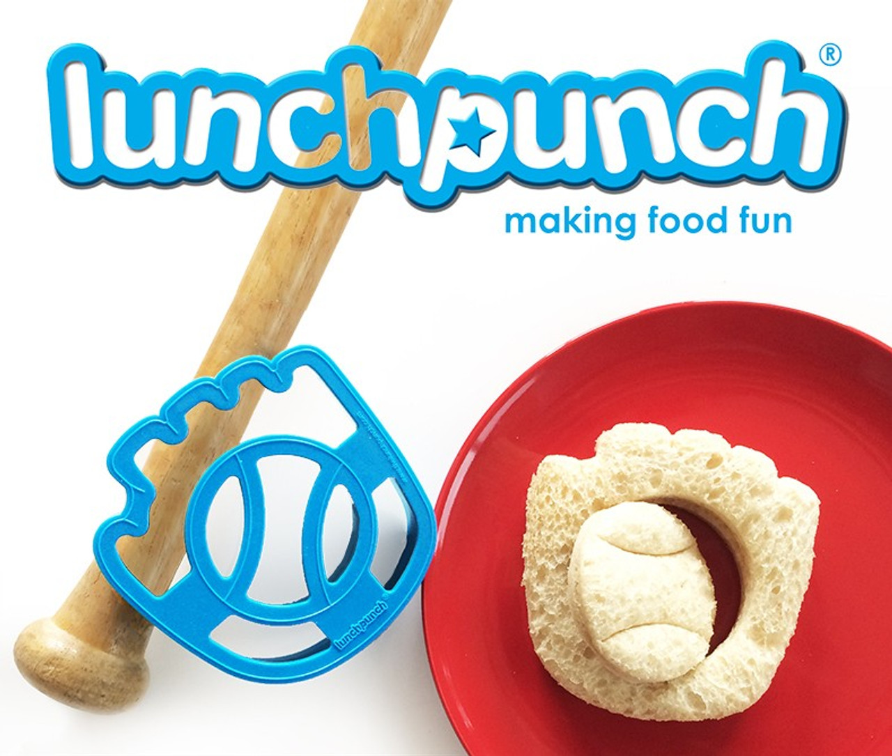 Lunchpunch Sandwich Cutter Sporty (4-pack)