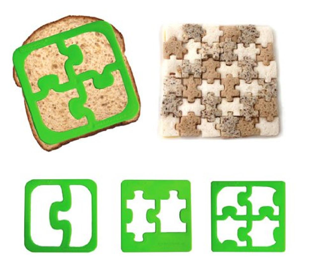 Lunchpunch Sandwich Cutter, Match & Munch (4-pack)