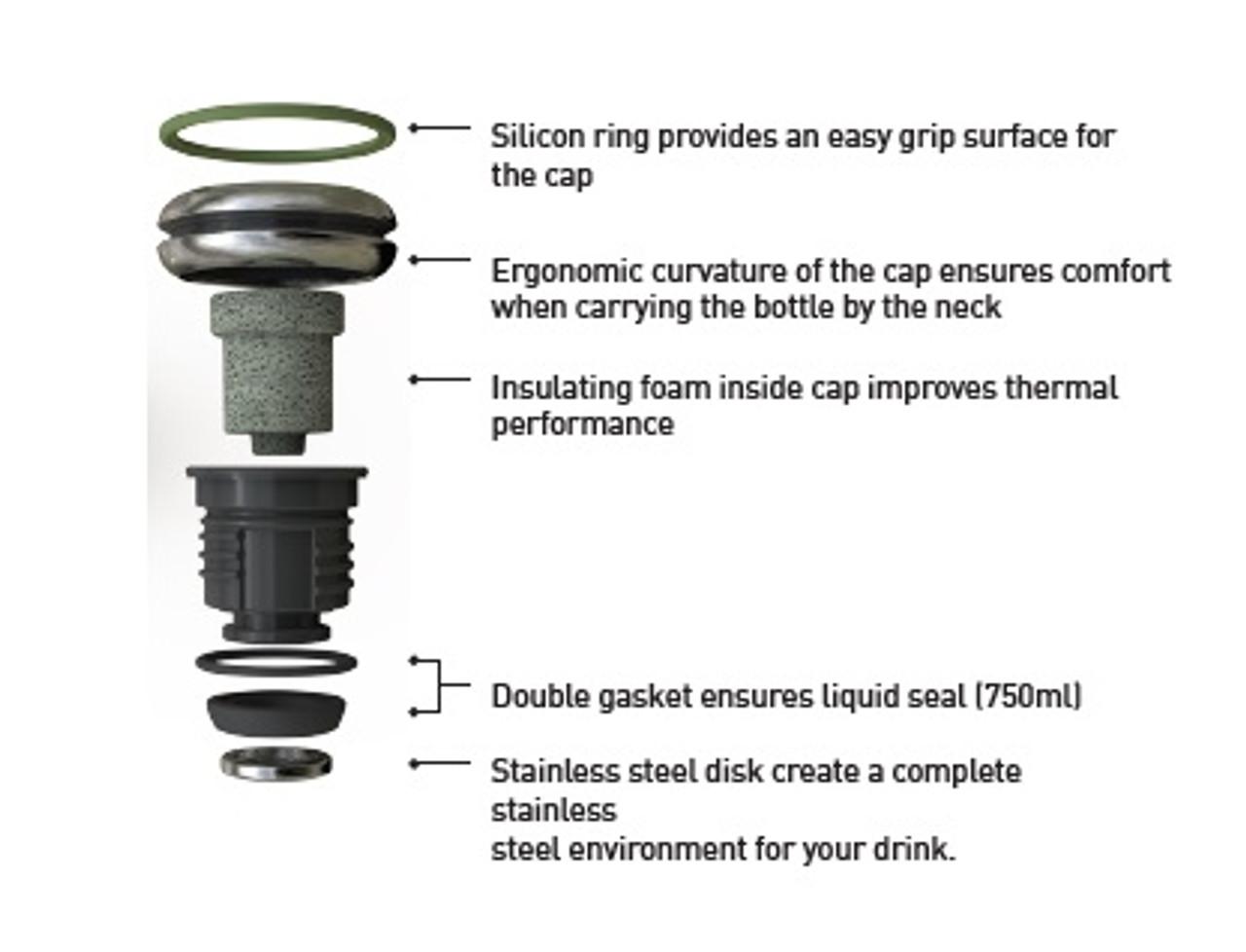 15 oz BQ Vacuum Insulated Stainless Steel Travel Bottle