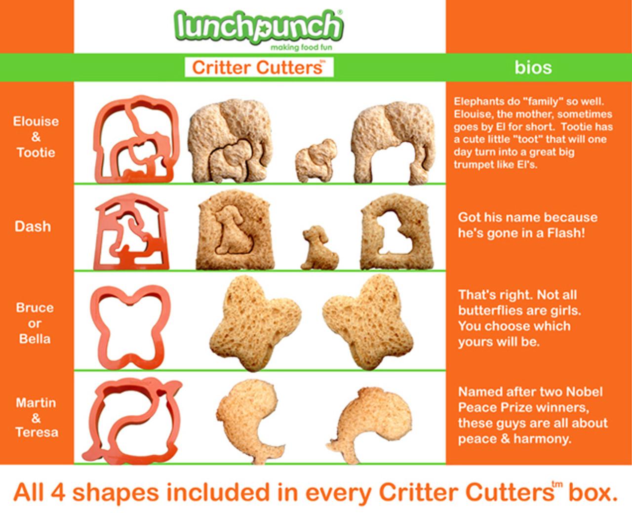 Lunchpunch Sandwich Critter Cutters (4-pack)