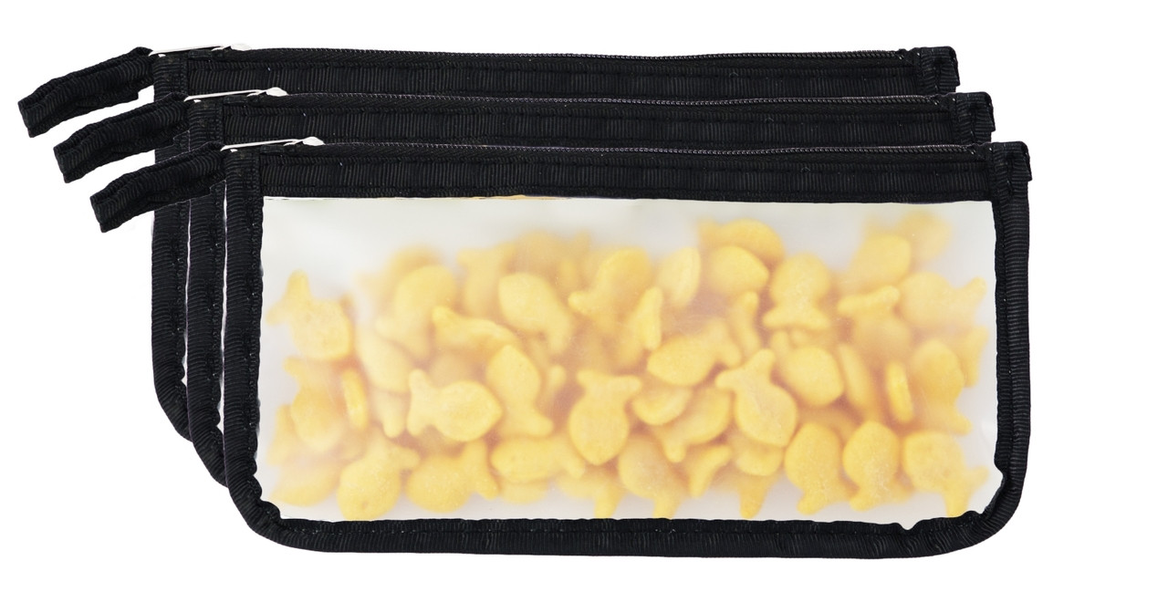 (re)zip Zippered Small Reusable Storage Bags (3-pack)