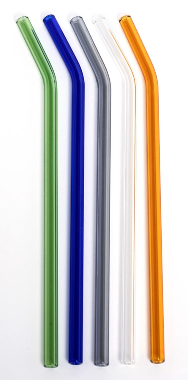 Life Without Waste Glass Drinking Straw BENT, Diameter 6mm