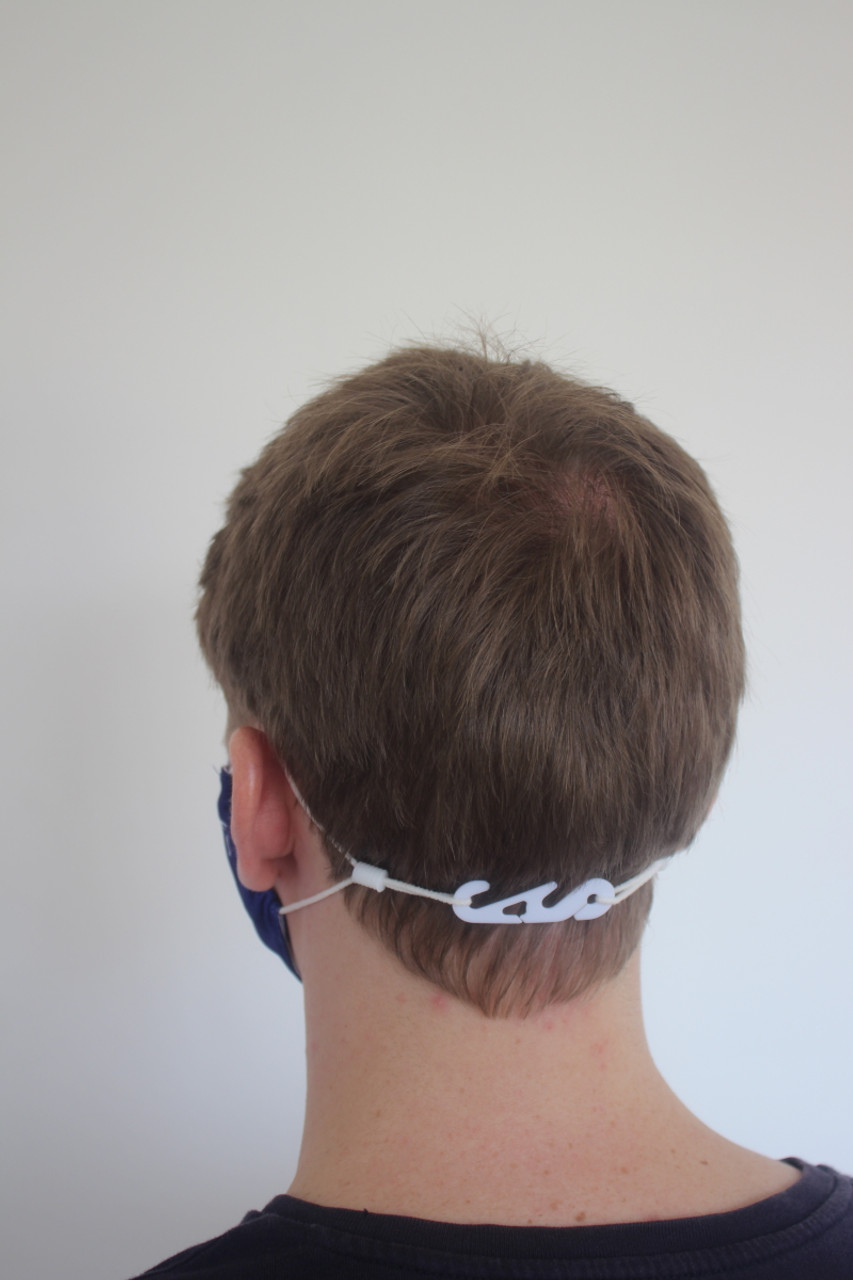 Can be worn below the occipital bone (the bump on back of one's skull)
