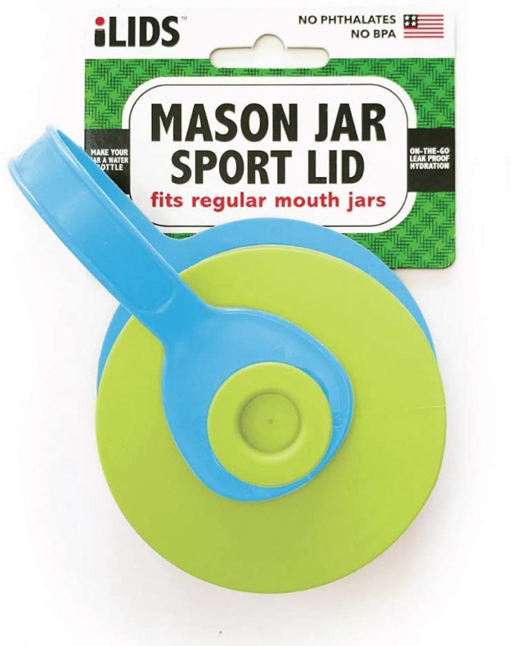 iLid Mason Jar Leak-Proof SPORT Lid, Regular Mouth