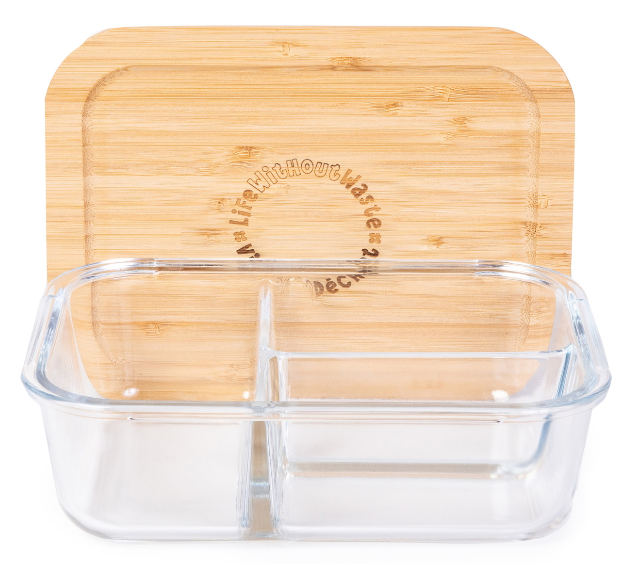 Life Without Waste Divided Glass Lunch Container