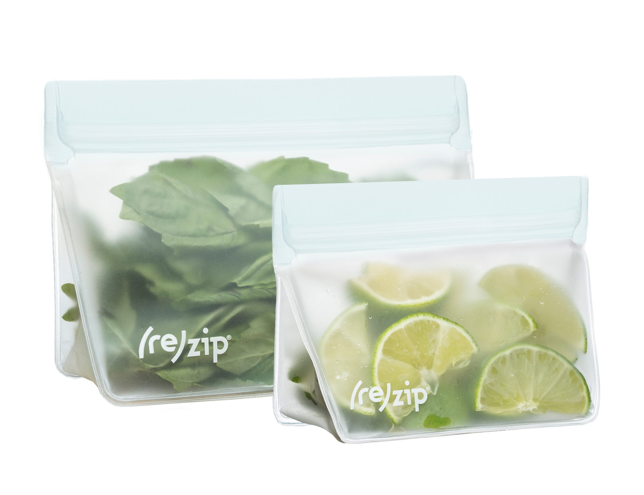 (re)zip Stand-Up Leakproof Reusable Storage Bags (1 cup + 2 cup)