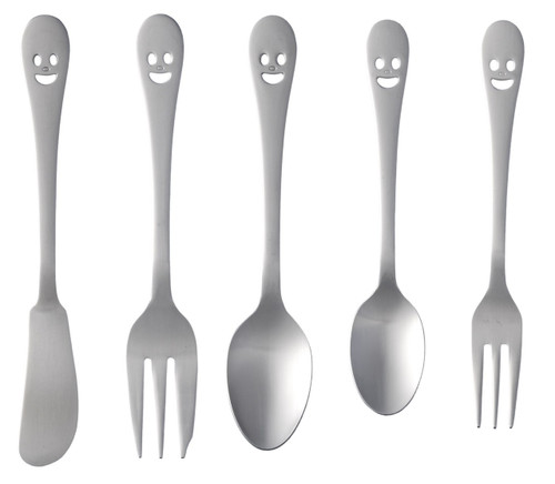 Happy Face Small Size Cutlery (12-pack)