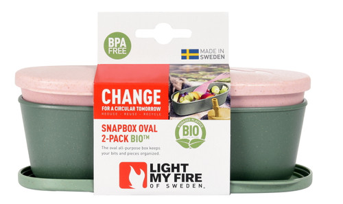 Light My Fire SnapBox Oval BIO (2-pack)