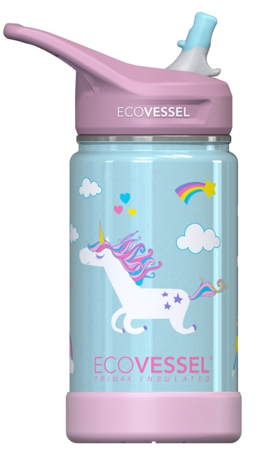 12 oz The Frost EcoVessel Insulated Stainless Steel Water Bottle with Straw