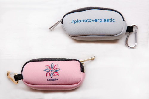 GreenPaxx  Keychain Straw Holder Pouch with 1 Two-piece Straw