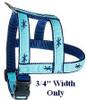 Atlantic Blue Fin Tuna  3/4 & 1.25 inch Dog Collar, Harness