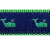 Whales Green On Navy Dog Collars