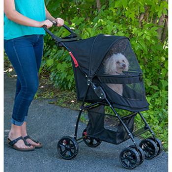 Happy Trails Lite NO-ZIP Pet Stroller - Boysenberry