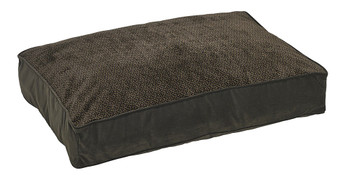 Chocolate Bones Microvelvet Super Loft Rectangle Pet Dog Bed