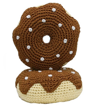 Chocolate Donut - The Original, Organic Cotton  Dental Dog Toy