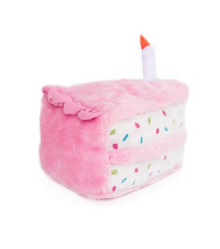 Birthday Cake Pet Dog Toy - Pink