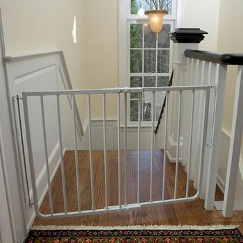 Stairway Special Pet Gate - White