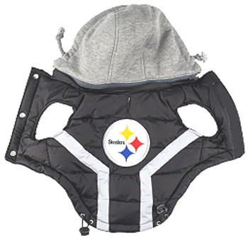 NFL Pittsburg Steelers Licensed Dog Puffer Vest Coat - S - 3X
