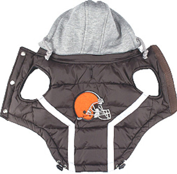 NFL Cleveland Browns Licensed Dog Puffer Vest Coat - S - 3X