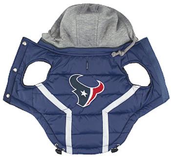 NFL Houston Texans Licensed Dog Puffer Vest Coat - S - 3X